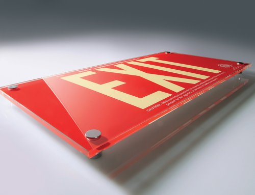 Plexiglass Desktop Sign
